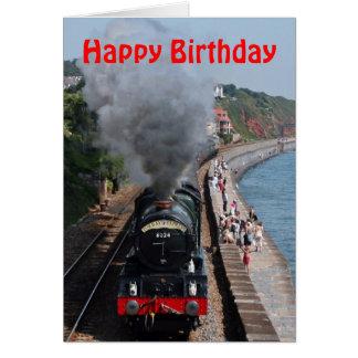 Dampf-Motor-alles Gute zum Geburtstag König-Edward Karte