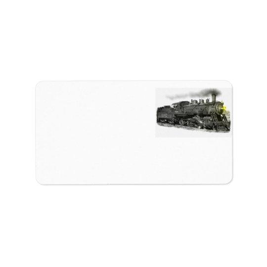Dampf-Zug Adressetikett