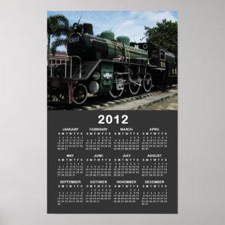 Dampf-Zug am Kalender Fluss Kwai Brücken-2012 Poster