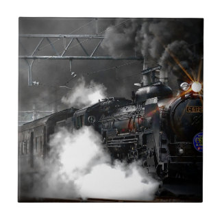 Dampf-Zug Fliese