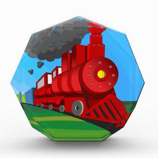 Dampf-Zug-LokomotivCartoon Auszeichnung
