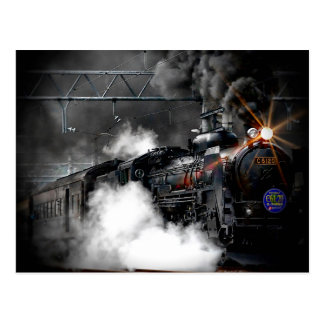 Dampf-Zug-Lokomotive Postkarte