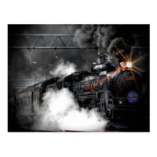 Dampf-Zug-Lokomotive Postkarten