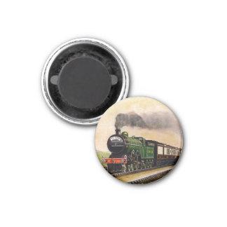Dampf-Zug Runder Magnet 3,2 Cm