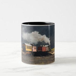 Dampf-Zug Zweifarbige Tasse