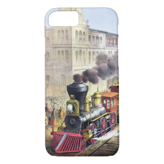 Dampf-Züge, Station, Railroad Vintage Hüllen