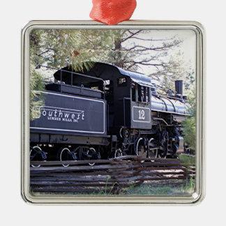 Dämpfen Sie Zug-Motor, Fahnenmast, Arizona, USA Silbernes Ornament