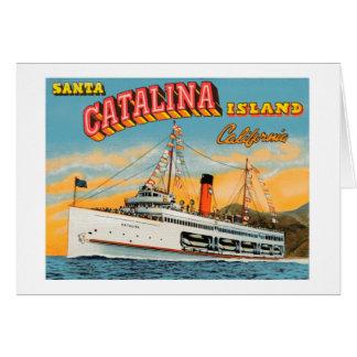 Dampfer-Catalina-Gruß-Karte Karte