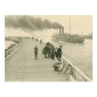 Dampfer das Postboot von Dover nach Ostende Postkarte