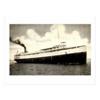 Dampfer Juniata der Anker-Linie Postkarte