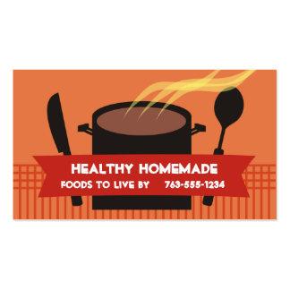 Dampfkochentopfmesserlöffel-Kochsgeschäft… Visitenkarten Vorlage