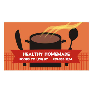Dampfkochentopfmesserlöffel-Kochsgeschäft… Visitenkarten