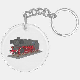 Dampflokomotive Schlüsselanhänger