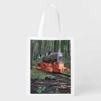 Dampflokomotive Wiederverwendbare Einkaufstasche