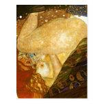 Dana? Gustav Klimt, gemalt 1907. Quelle: Anderes v Postkarte