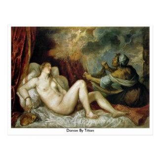 Danae durch Titian Postkarte