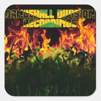 Dancehall Abteilungs-Aufnahmen Quadratischer Aufkleber
