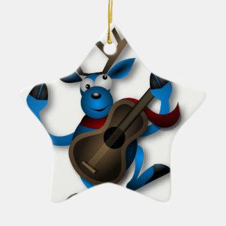 Dancing_Reindeer2222 Keramik Stern-Ornament