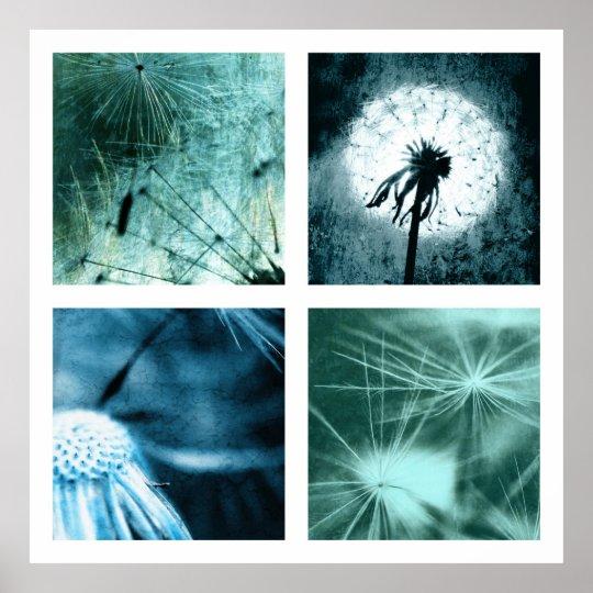 Dandelion Art  - Pusteblume Kunst Colage 2012 004 Poster