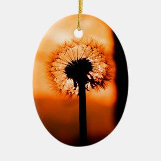 Dandelion Flower ,(Löwenzahn) Keramik Ornament