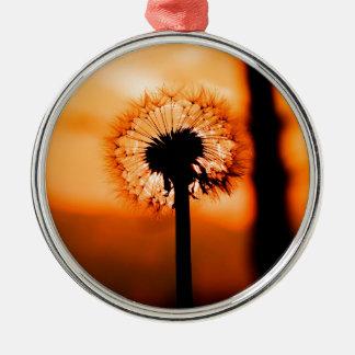 Dandelion Flower ,(Löwenzahn) Silbernes Ornament