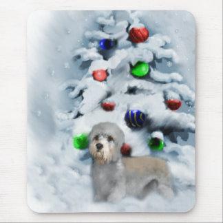 Dandie Dinmont Terrier Weihnachten Mousepad