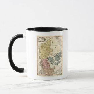 Dänemark-Atlas-Karte Tasse