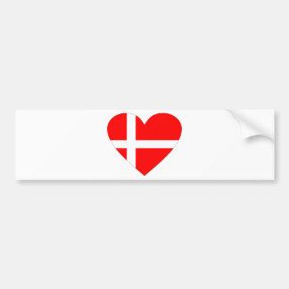 Dänemark Autoaufkleber