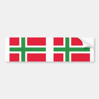 Dänemark Bornholm, Dänemark Flagge Autoaufkleber