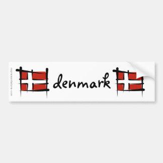 Dänemark-Bürsten-Flagge Autoaufkleber