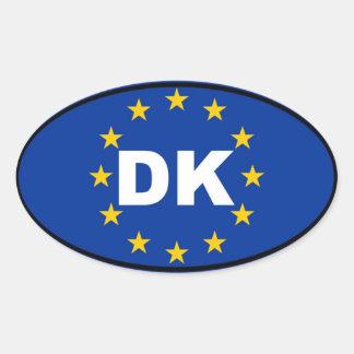 Dänemark - DK - europäische Gewerkschaft Ovaler Aufkleber