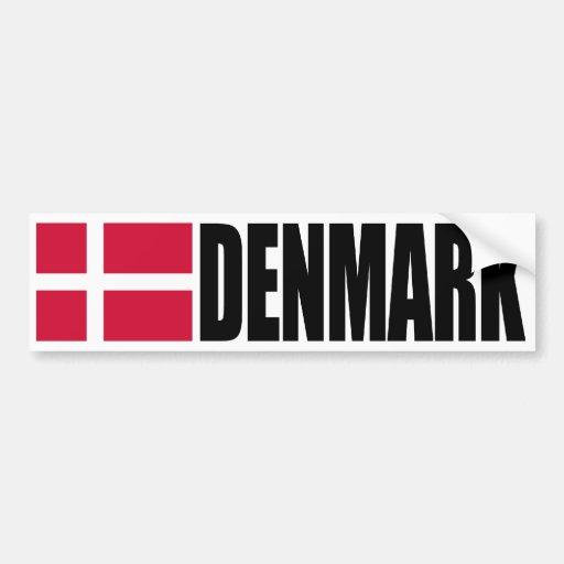 Dänemark-Flagge Autoaufkleber