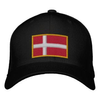 Dänemark-Flagge Bestickte Baseballkappe