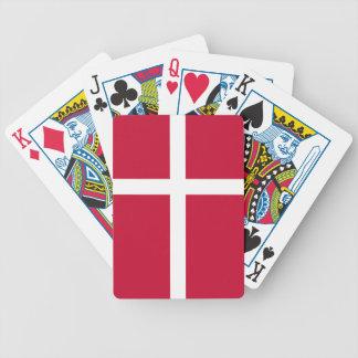 Dänemark-Flagge Bicycle Spielkarten
