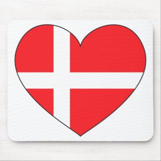 Dänemark-Flagge einfach Mousepads