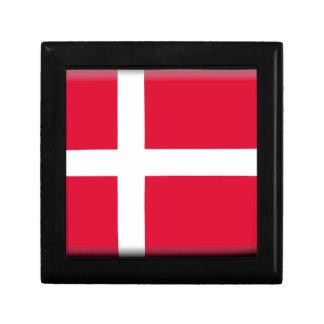 Dänemark-Flagge Kleine Quadratische Schatulle