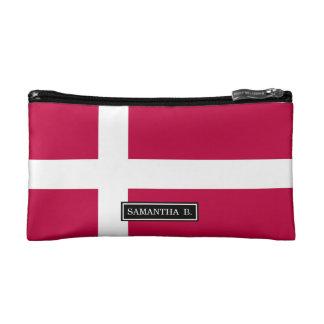 Dänemark-Flagge Makeup-Tasche