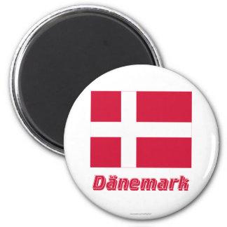 Dänemark Flagge MIT Namen