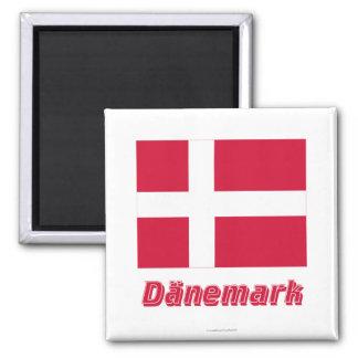 Dänemark Flagge MIT Namen Magnete