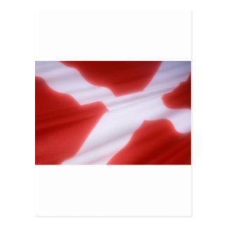 Dänemark-Flagge Postkarte