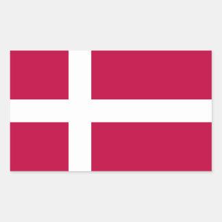 Dänemark-Flagge Rechteckiger Aufkleber