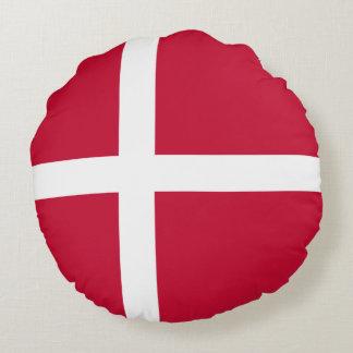 Dänemark-Flagge Rundes Kissen