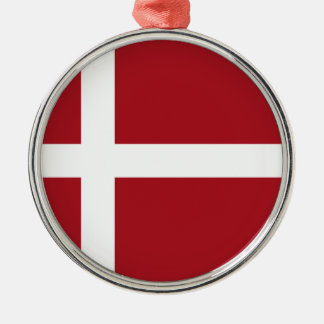 Dänemark-Flagge Silbernes Ornament