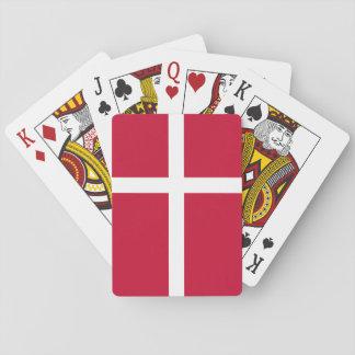 Dänemark-Flagge Spielkarten