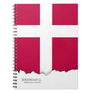 Dänemark-Flagge Spiral Notizblock