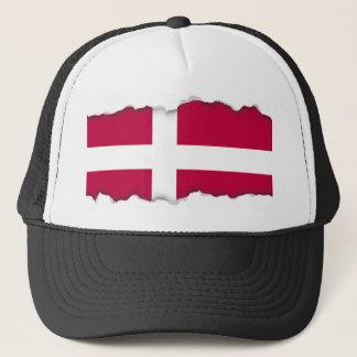 Dänemark-Flagge Truckerkappe