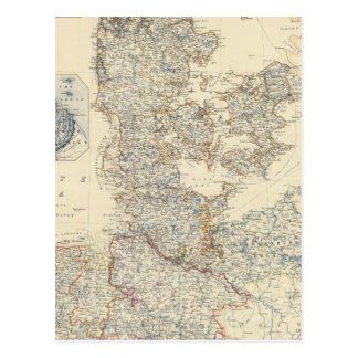Dänemark, Hannover, Brunswick, Mecklenburg Postkarte