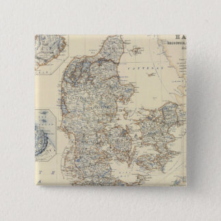 Dänemark, Hannover, Brunswick, Mecklenburg Quadratischer Button 5,1 Cm