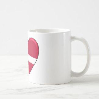 Dänemark-Herz-Flagge Kaffeetasse