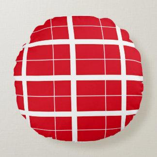 Dänemark inspirierte Flaggen-Muster Rundes Kissen